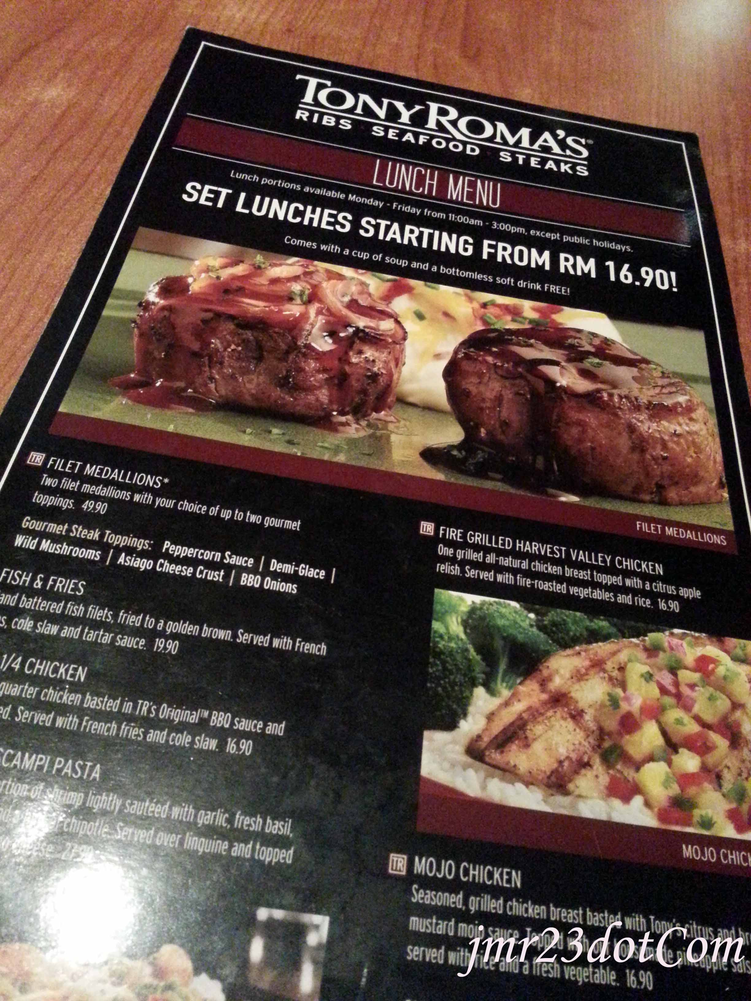 Steakhouse Burger, Tony Roma's.
