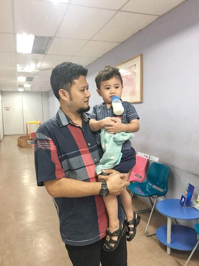 anak demam pergi klinik