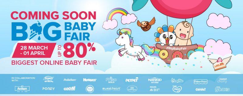 Lazada The Big Baby Fair Sale. Lebih Jimat. Potongan Sehingga 80%