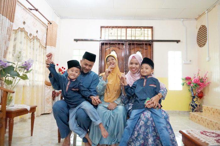 potret keluarga syawal