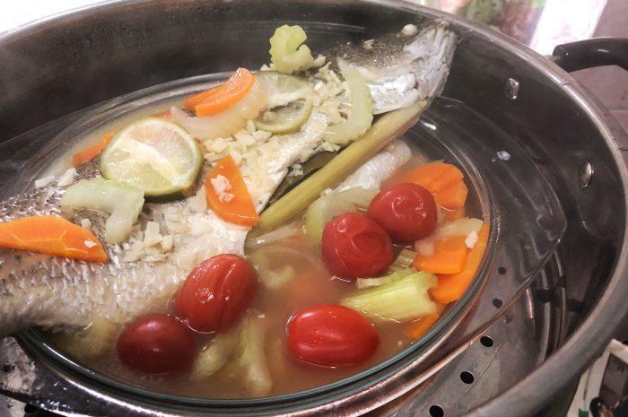 Resipi Ikan Siakap Stim Limau + Bawang Jeruk Yang Mudah Dan Sedap.