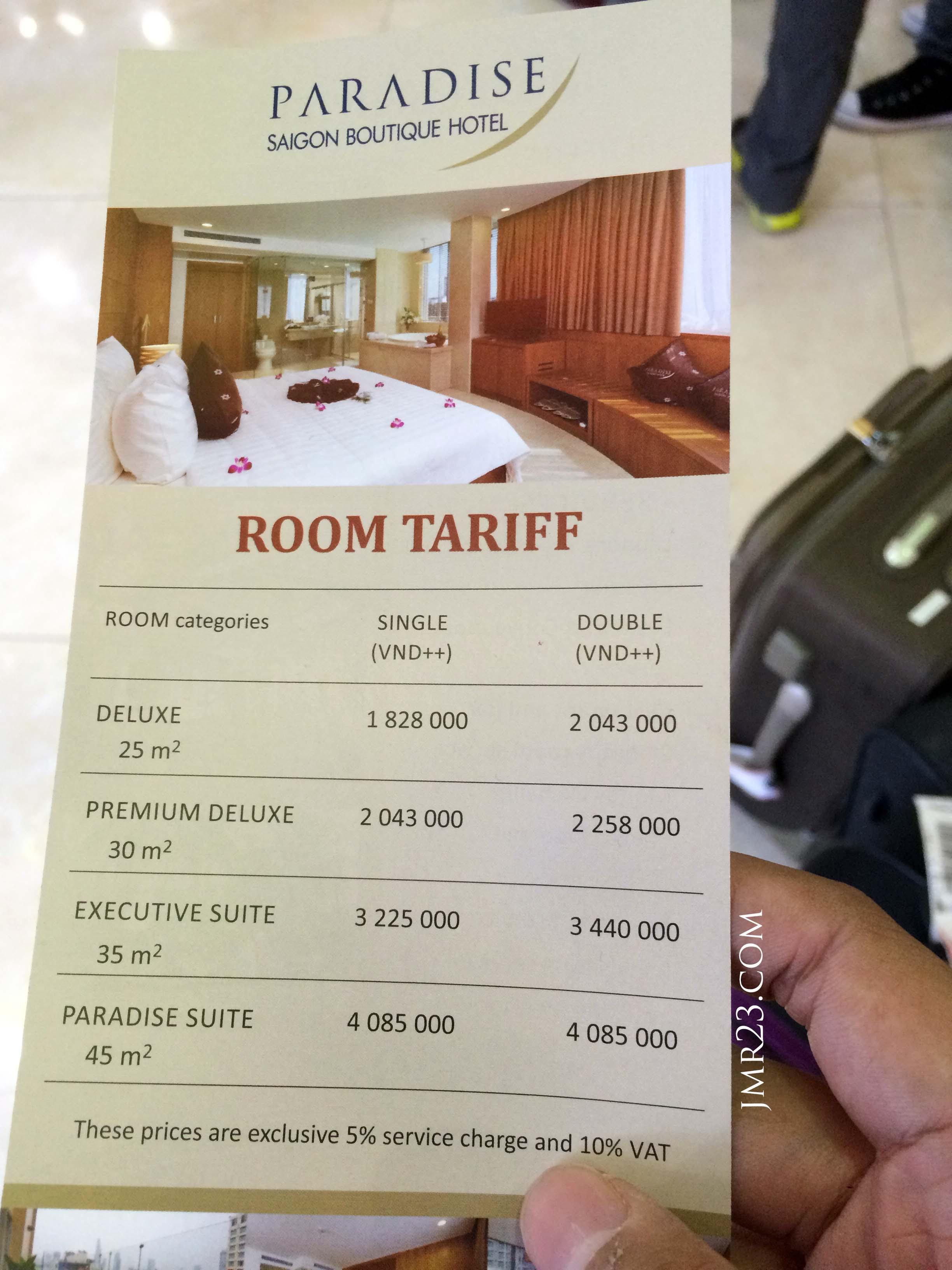 paradise saigon hotel