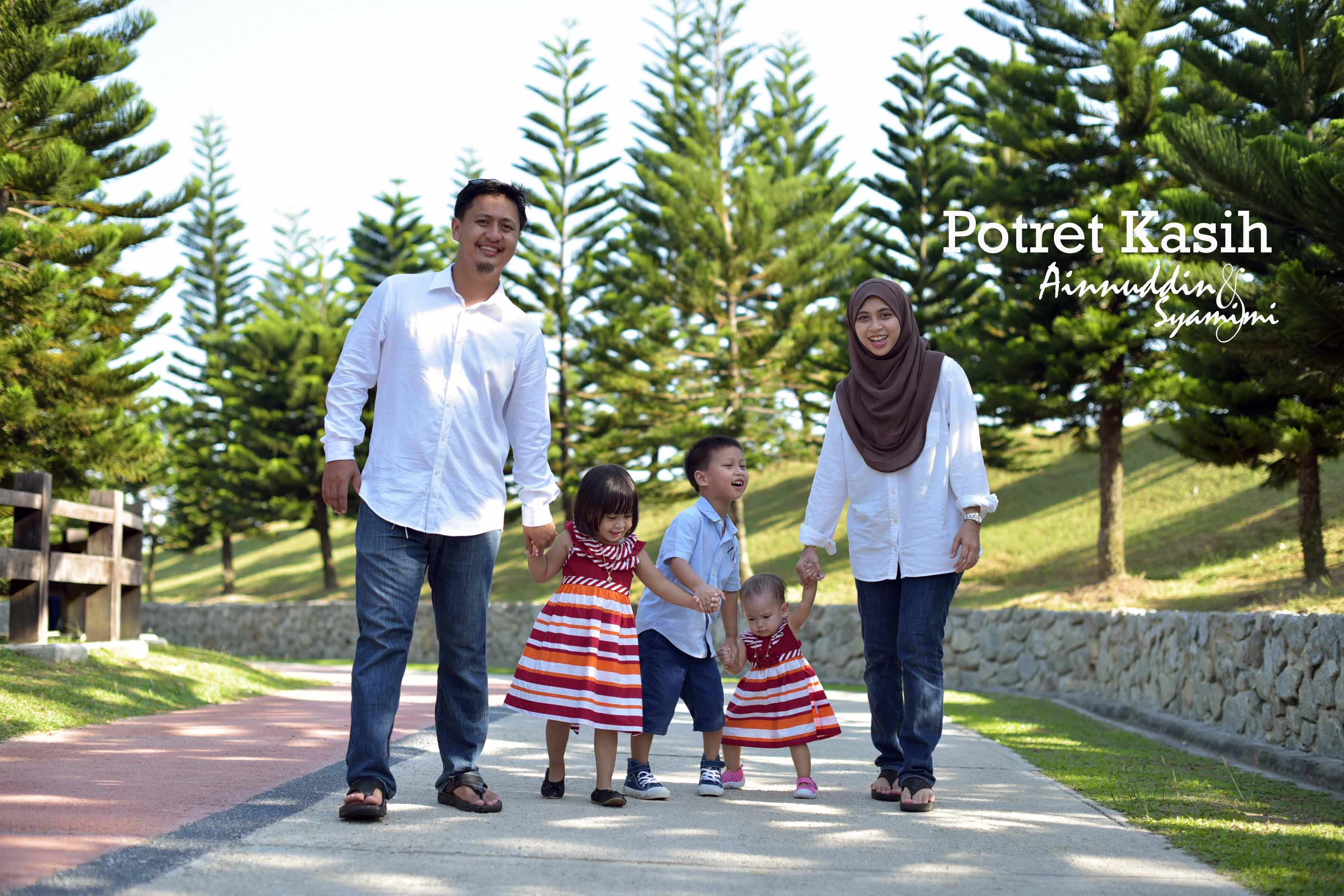 Potret Keluarga..dari saat akad nikah ke anak tiga..